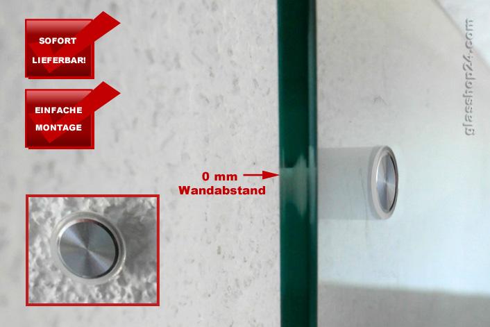 edelstahl befestigung set 0mm glas k chenr ckwand fliesenspiegel glasplatte. Black Bedroom Furniture Sets. Home Design Ideas