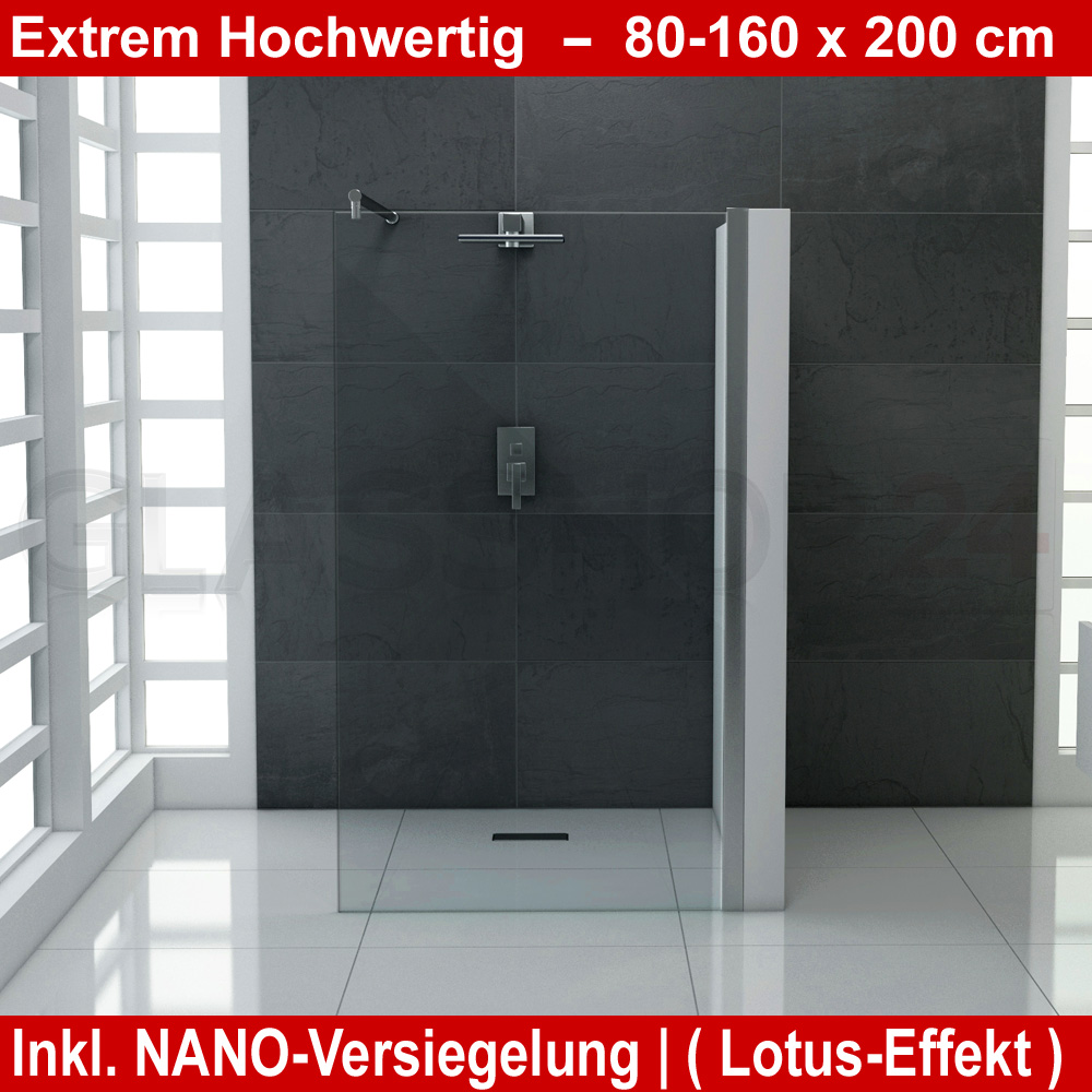 design duschwand walk in dusche mit nanoeffekt duscht r duschabtrennung glas ebay. Black Bedroom Furniture Sets. Home Design Ideas