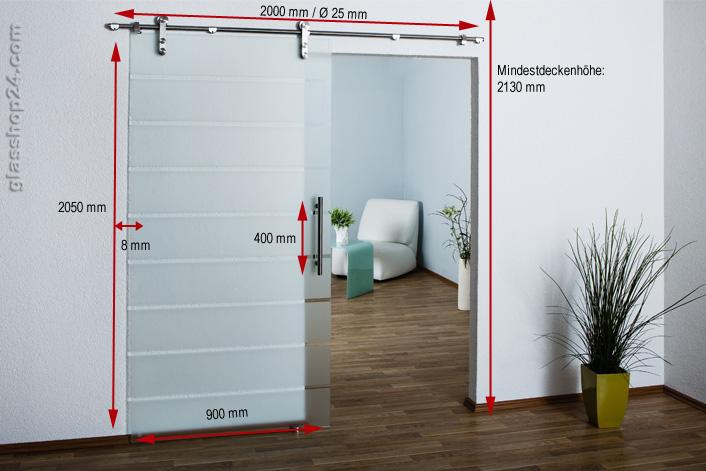 ganzglasschiebet r teilsatiniert 900x2050x8mm sl5a. Black Bedroom Furniture Sets. Home Design Ideas