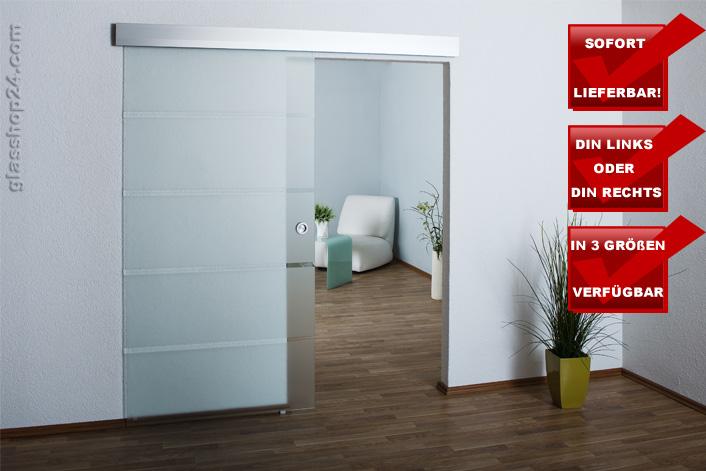 ganzglasschiebet r teilsatiniert 900x2050x8mm so6a. Black Bedroom Furniture Sets. Home Design Ideas