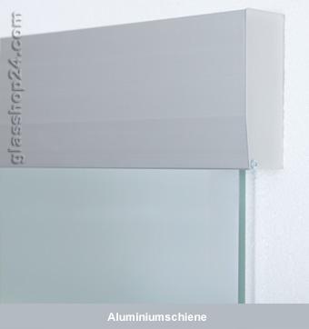 Glasschiebetür matt satiniert 77,5cm - Alu Schiebesystem ...