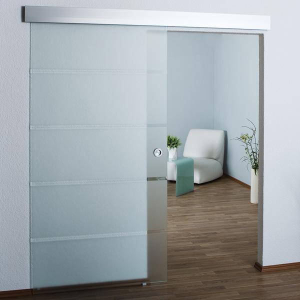 glasschiebet r schiebet r glast r glas t r satiniert ebay. Black Bedroom Furniture Sets. Home Design Ideas