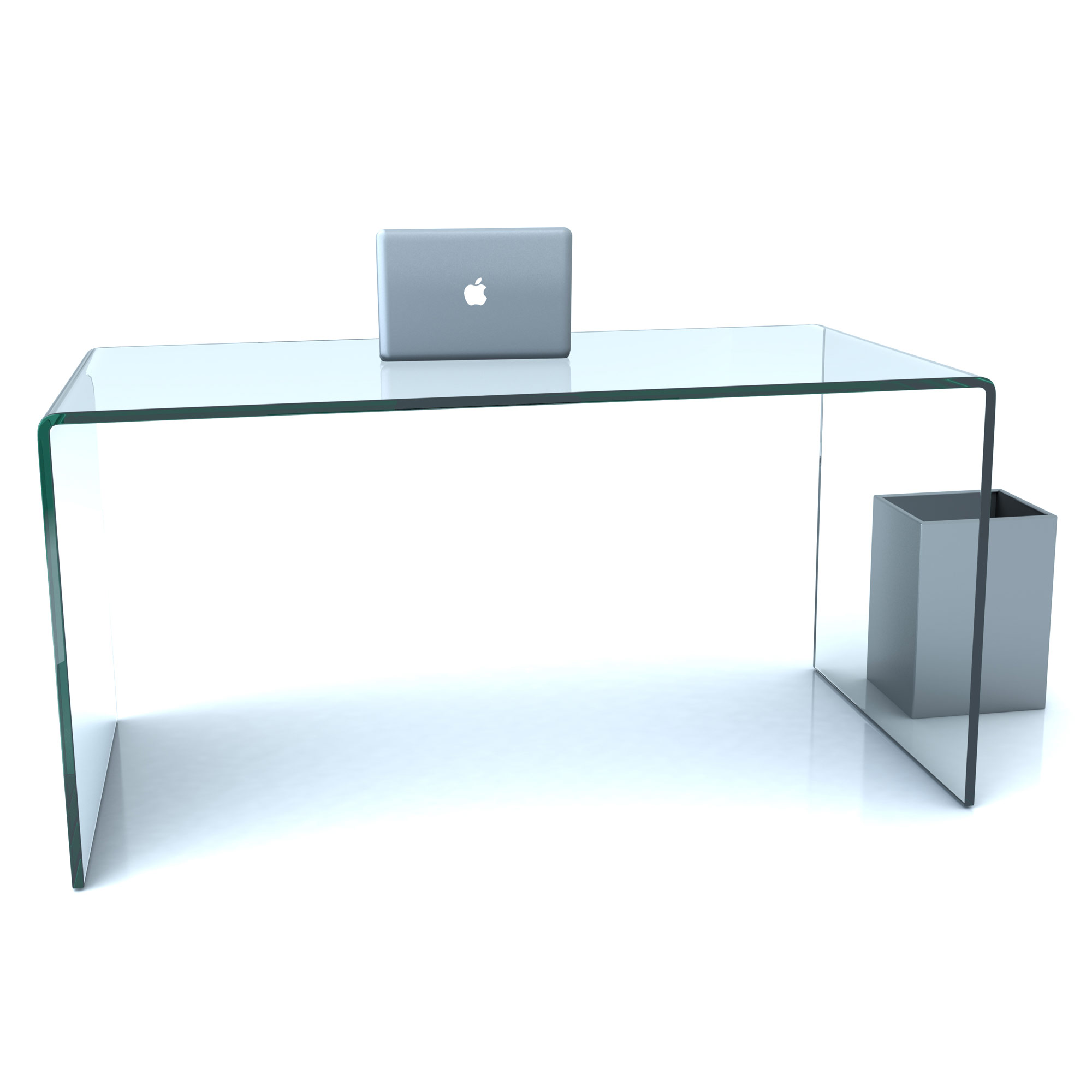 design glas schreibtisch 19mm echtglas b t h 140x32x73cm glas tisch ebay. Black Bedroom Furniture Sets. Home Design Ideas