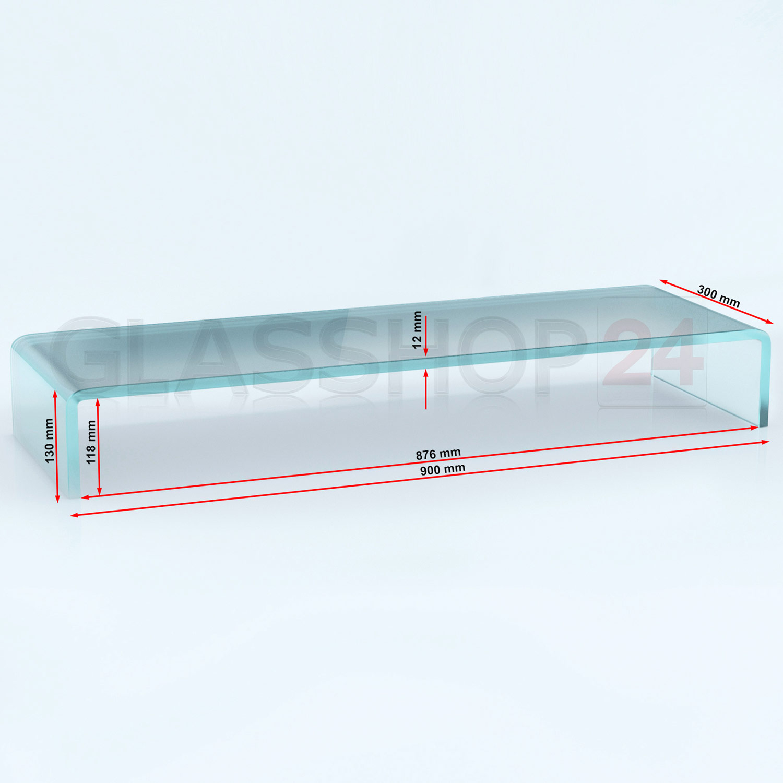 Tv glasaufsatz glas tisch tv aufsatz monitor erh hung lcd for Glas tische