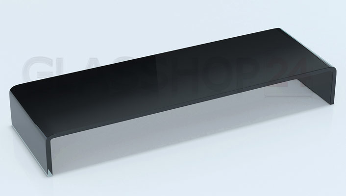 Tv glasaufsatz 90cm breit glastisch beistelltisch glas tv for Beistelltisch 90 cm breit